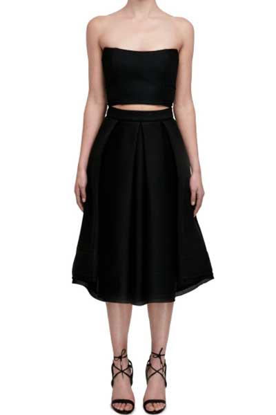 Mesh-folded-V-skirt-Nicholas
